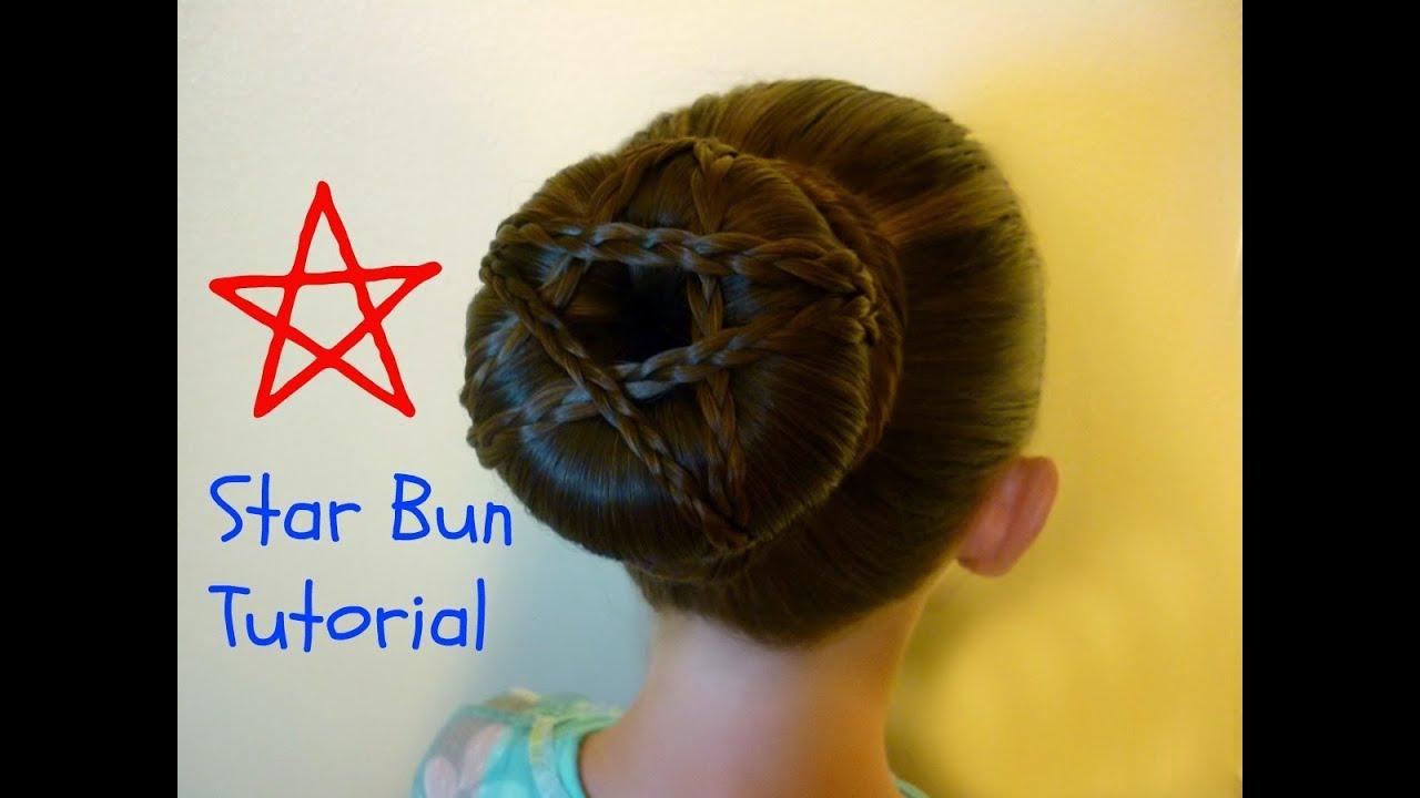 Star Bun Hairstyle - YouTube