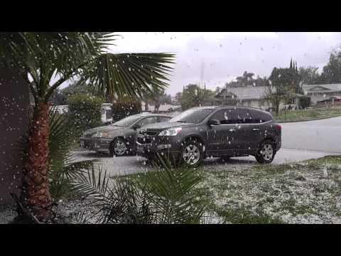 Hail in Highland California 3/7/16