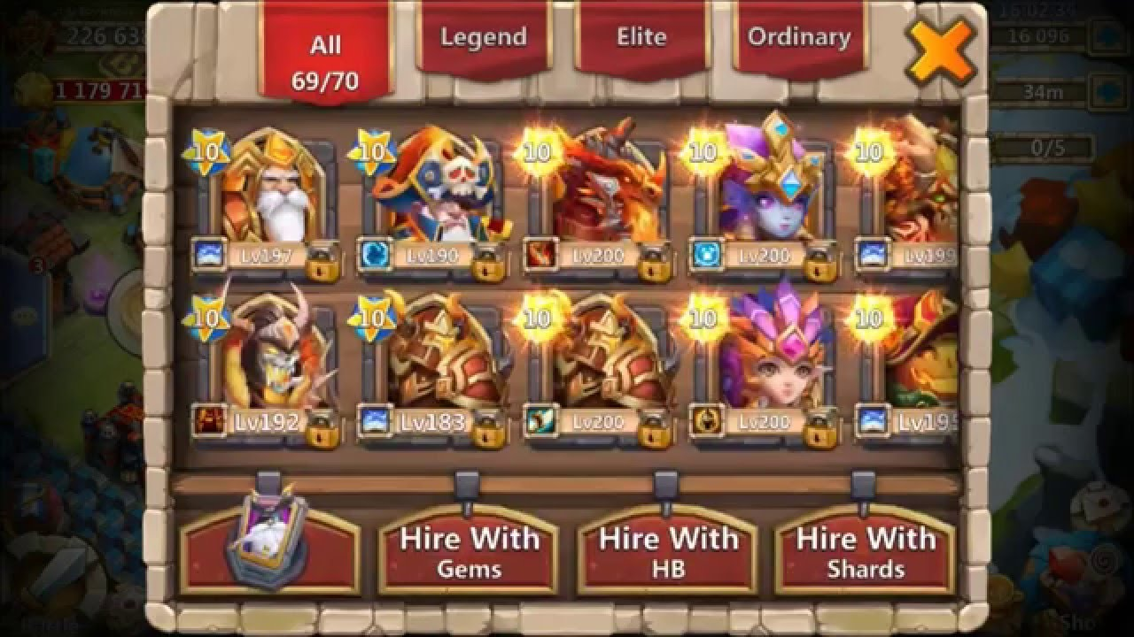 Castle Clash Rank 1 iOS Player Full Alter All Heroes Shown NINE 10/10  Heroes Total