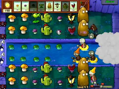 Plants Vs Zombies Stage - Stage 4-9
