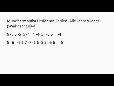 Mundharmonika Oh Tannenbaum.Mundharmonika Lieder Mit Zahlen Alle Jahre Wieder Weihnachtslied 2
