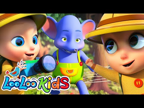 🐘One Elephant Went Out To Play - Counting Nursery Rhymes for Kids | LooLoo KIDS Children`s Songs
