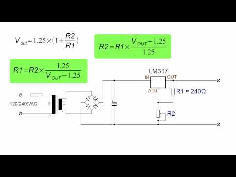 Simple Linear Adjustable Power Supply Tutorial (Based Around LM317) Part 1/2