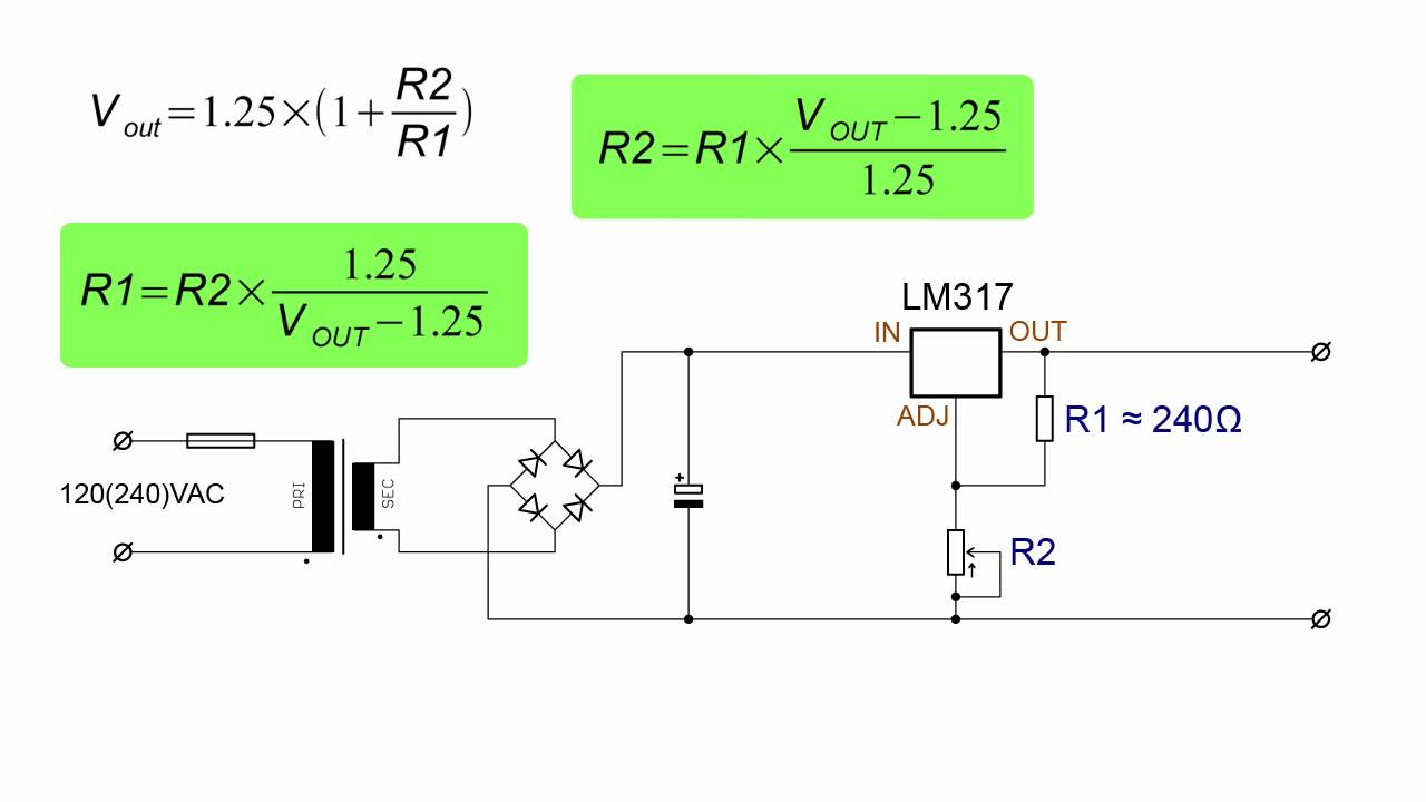 Simple 10a Variable Voltage Regulator Circuit Diagram Power Supply 1 30v With Lm317