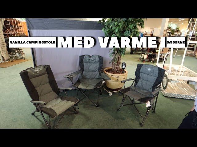 Vanilla campingstole med varme i sædet