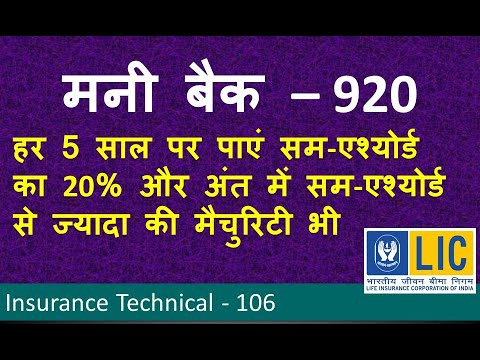 LIC Money Back Plan No 920 in Hindi - Life Insurance ...
