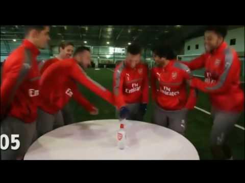 Kieran Gibbs Do a Bottle Flip Challenge