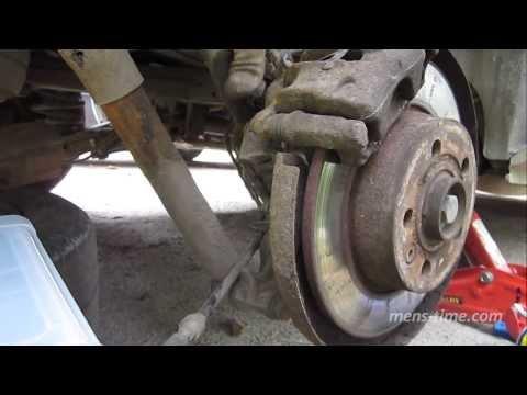 Временная починка закисшего ручного тормоза VW Sharan