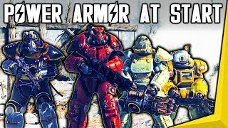Fallout 76 - Power Armor At The START Of The Game Near Vault 76