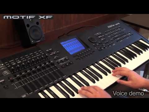 YAMAHA MOTIF XF Demo 1/3 Voices