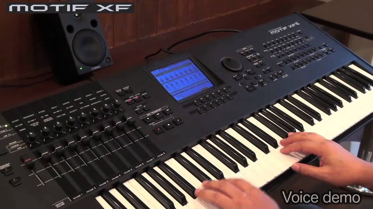 yamaha motif xf demo 1 3 voices youtube