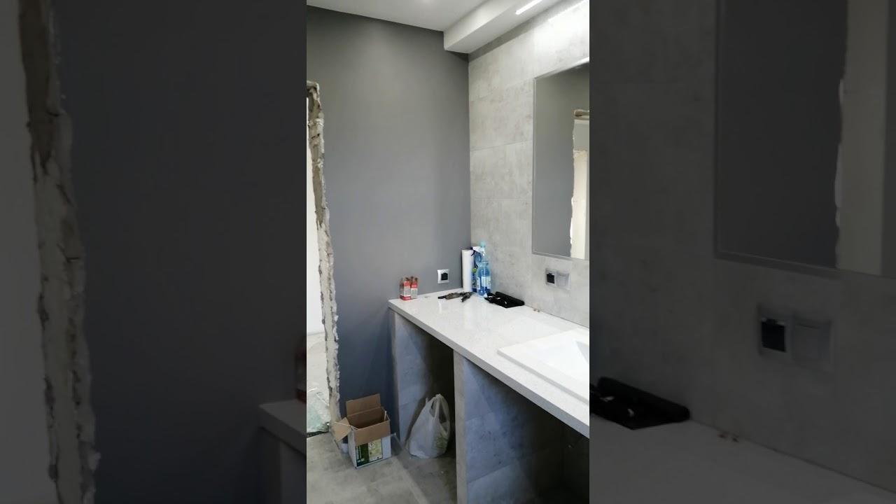 łazienka Inspiracje łazienka Szaro Drewniana