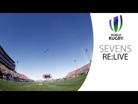 Incredible flyover by F-15 fighter jets at USA Sevens