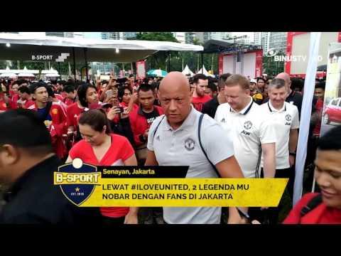 B SPORT - Lewat #ILoveUnited, 2 Legenda MU Nobar dengan Fans di Jakarta