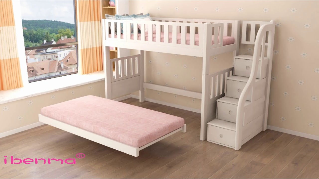 Children Furniture Promotion | Bunk Bed Offer | Loft Bed | Belgium Latex  Mattress