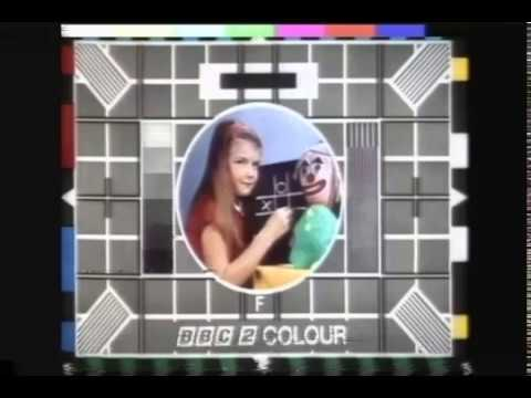 BBC 2 Test Card Vintage British TV Commerical