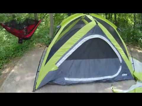 2fbc737e1 CORE Equipment 4 Person Instant Dome Tent + Sunyear Single & Double Camping  Hammock