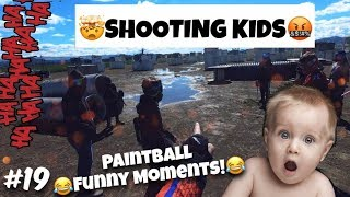 SHOOTING KIDS WITH A PAINTBALL GUN // HILARIOUS PAINTBALL MOMENTS // ASG PAINTBALL # 19