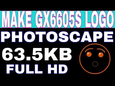 How To Make Gx6605s Logo Photoscape Photo Editor