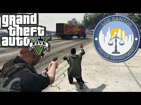 GTA5 - LSPDFR  Mod - Officer Ted Bell's First Day!