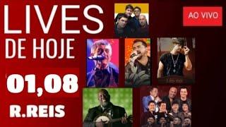 LIVES DE HOJE DIA 01,08,20, (SÁBADO) LIVES AO VIVO AGORA, LIVES DE HOJE NO YOUTUBE,