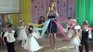 Красивый танец Радуга в детском садике (младшая группа)