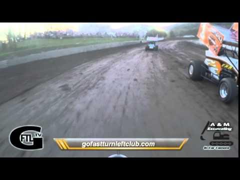 Dustin Purdy @ Penn Can Speedway - CRSA Sprint Car Heat Race - 5/8/15 - Go Pro Hero 4