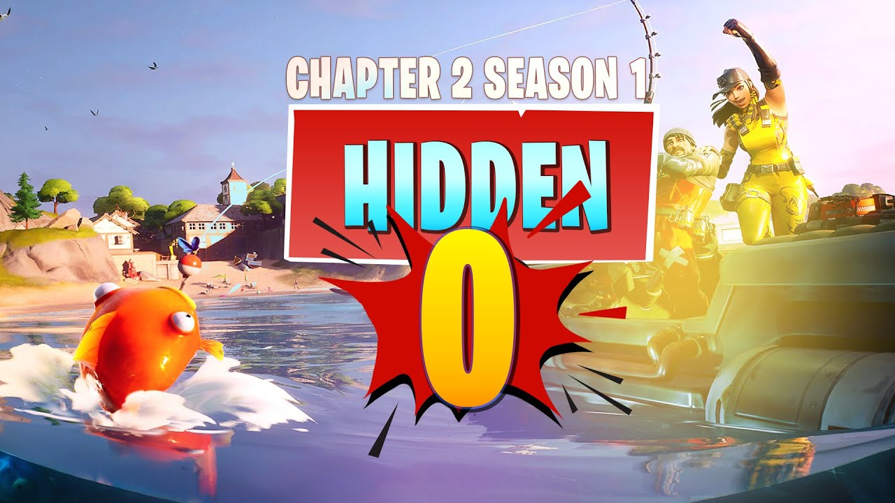 Fortnite Chapter 2 Hidden O Letter Location In Open Water Loading Screen