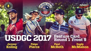 USDGC 2017 Feature Card Round 1 Front 9