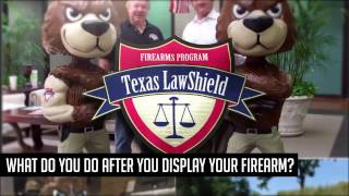 What do you do after you display your firearm in Texas?