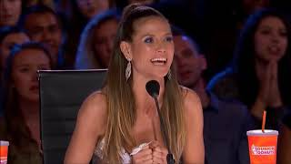 Helarious act on the stage of America's got talent