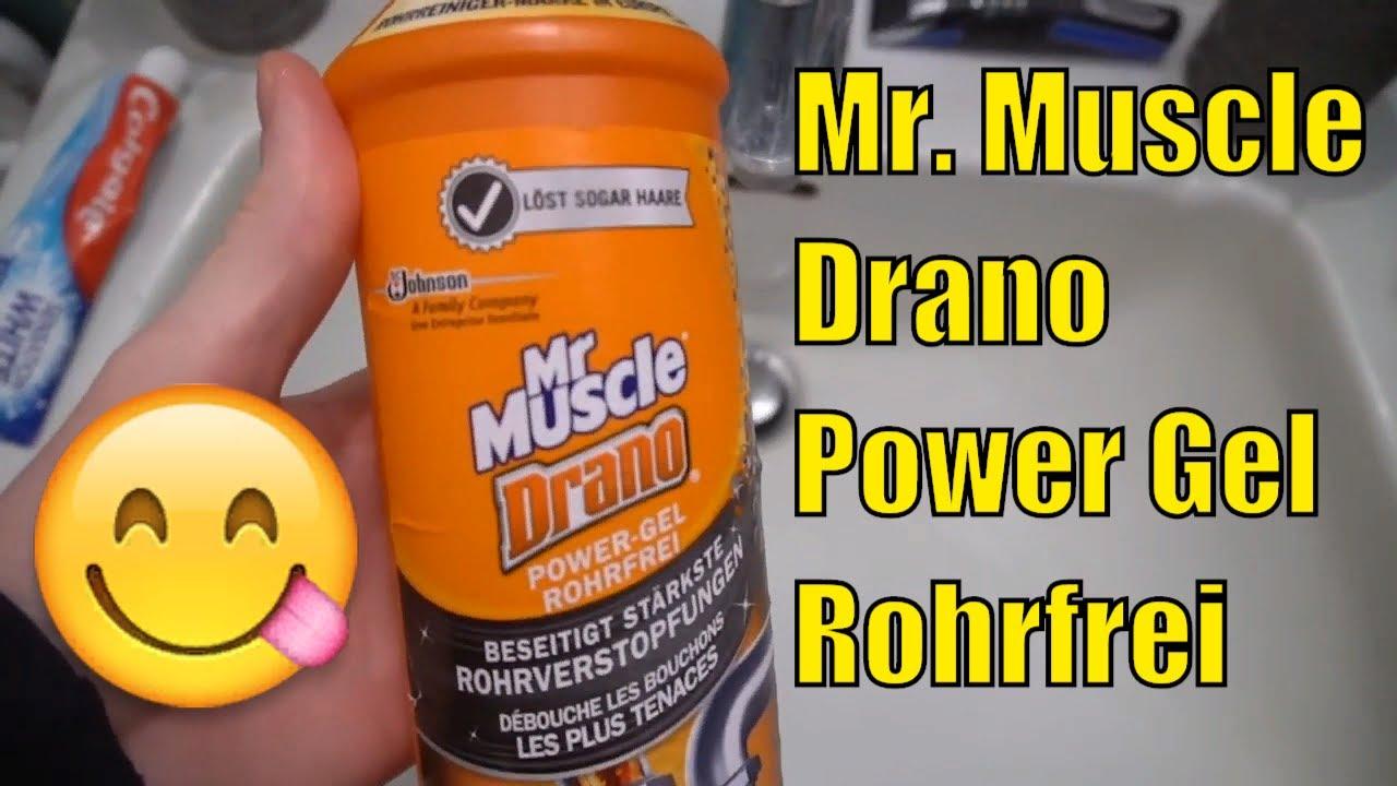 Mr Muscle Drano Power Gel Rohrfrei Abfluss Reiniger Youtube