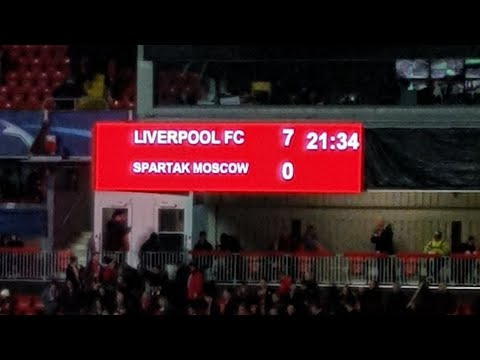 LIVERPOOL 7-0 SPARTAK MOSCOW
