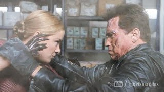 Terminator vs Predator - Arnold and Kristanna Loken Fight Scene | Terminator 3
