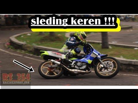 aksi sleding yamaha 125z underbone | practice road race pekalongan