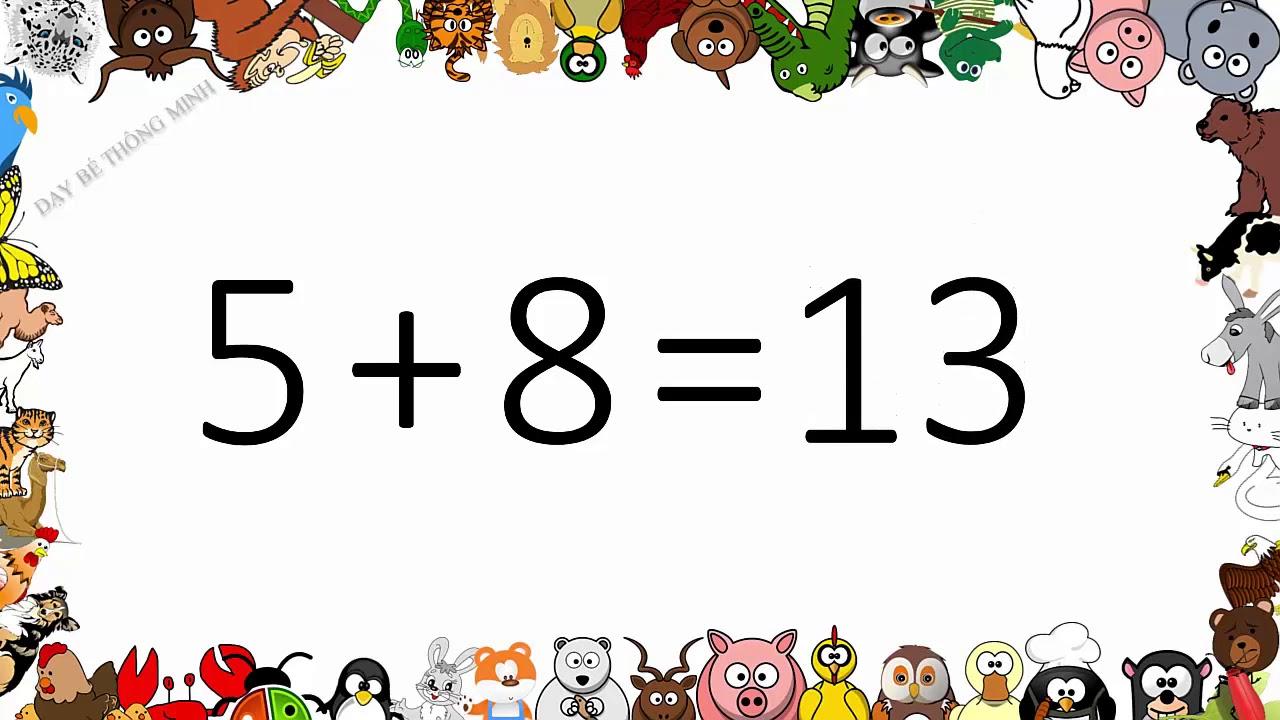 Bé học toán thông minh | Dạy em học phép toán cộng với 5 ở tiểu học | Dạy bé thông minh
