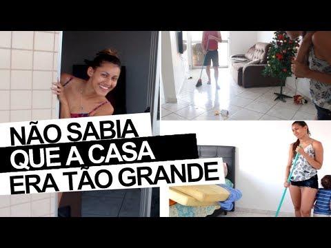 PRIMEIRA FAXINA PESADA NA CASA NOVA -
