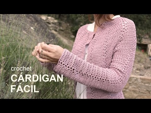 Tutorial Cárdigan Fácil Crochet o Ganchillo en Español - YouTube
