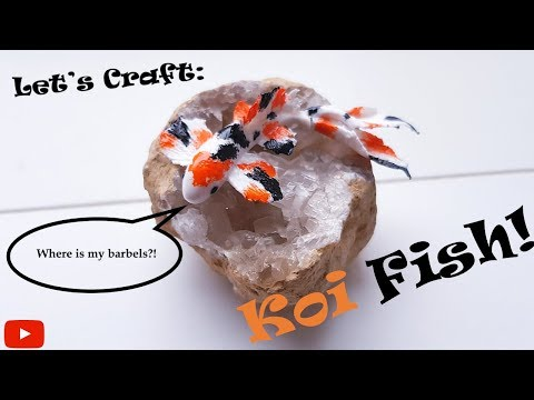 How To Make Handmade Clay Koi Fish │ Let's Craft With Polymer Clay