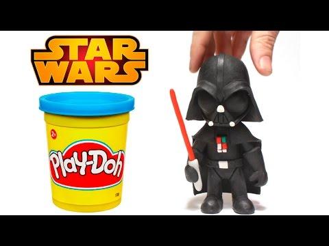 Play Doh Stop Motion Darth Vader Star Wars claymation plastilina playdo animación