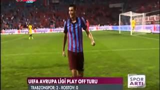 Trabzonspor 2-0 Rostov: Oscar Cardozo goal