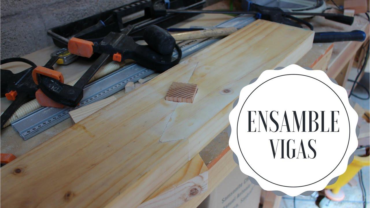 Ensamble de vigas de madera scarf joint youtube - Vigas de maderas ...