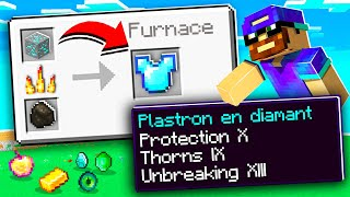 Minecraft MAIS les fours donnent du stuff CHEAT !