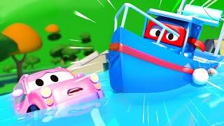 Carl der Super Truck - Carl rettet die kleinen Autos indem er sich in ein Fischerboot verwandelt