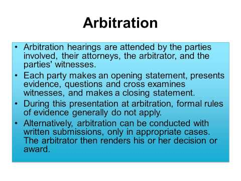 Chapter 6 Alternative Dispute Resolution (ADR) Lecture