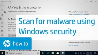 How to Scan your Computer for Malware Using Windows Security   HP Computers   HP