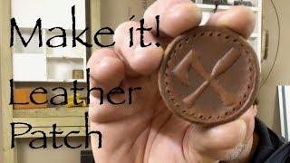 How to make a wet formed leather sew-on patch.
