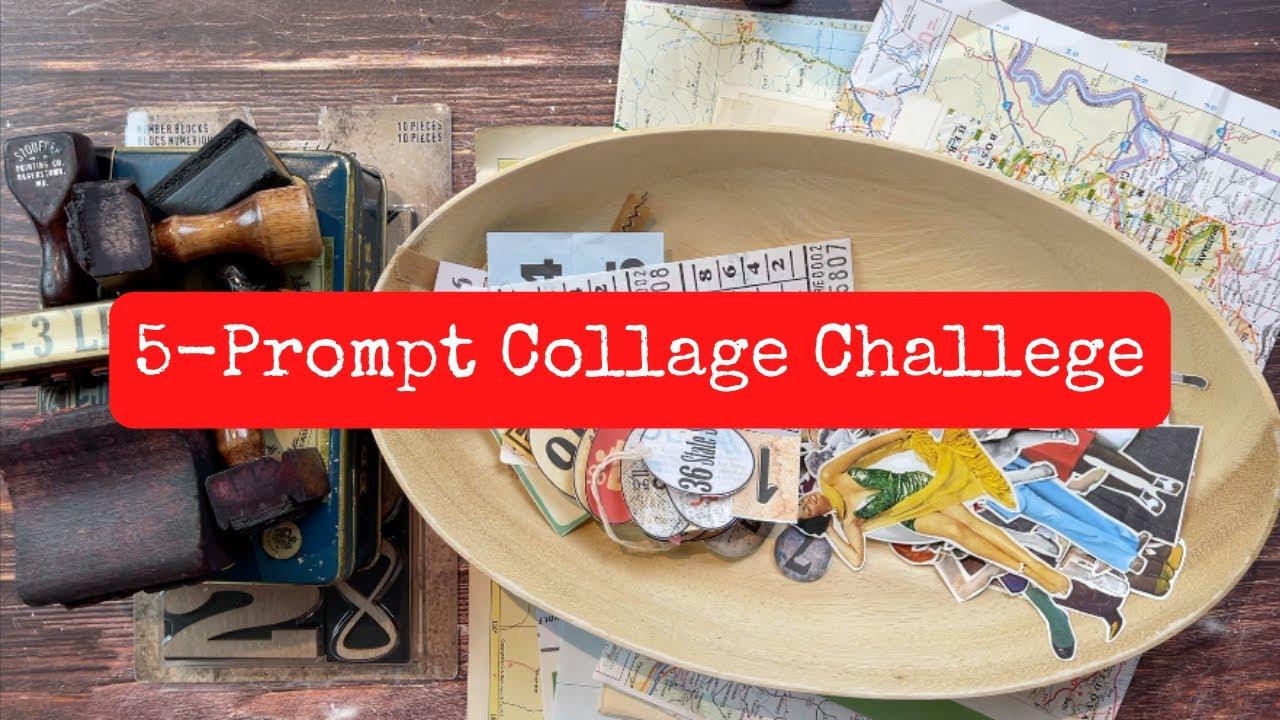 5 Prompt Weekly Collage Challenge/Margarete Miller/#cwplanner16/Working in my Travelers Notebook