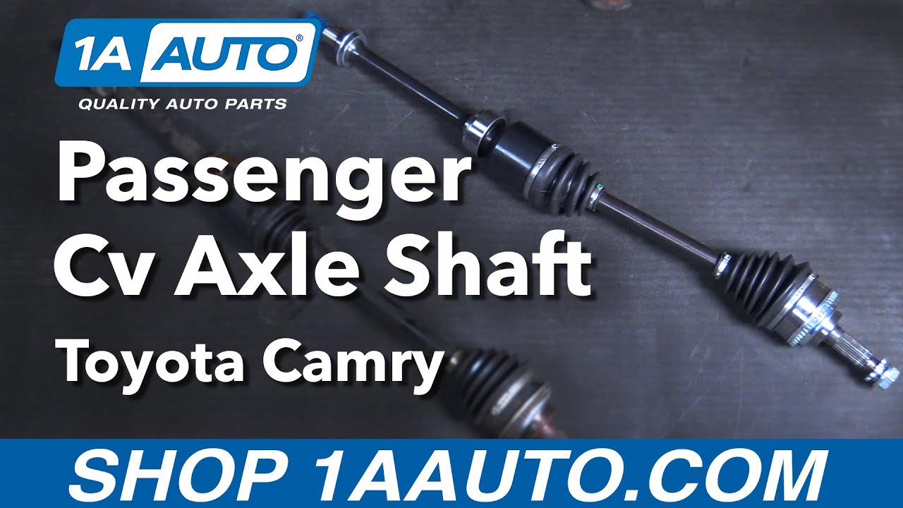 How To Replace Cv Axle Passenger Side 92 01 Toyota Camry Youtube 2003 Engine Diagram