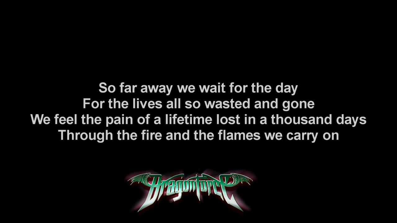 Dragonforce - Through the Fire and Flames(Lyrics) - YouTube